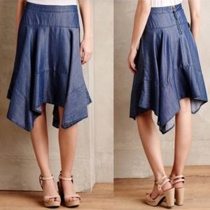 Anthropologie HD in Paris Chambray Skirt
